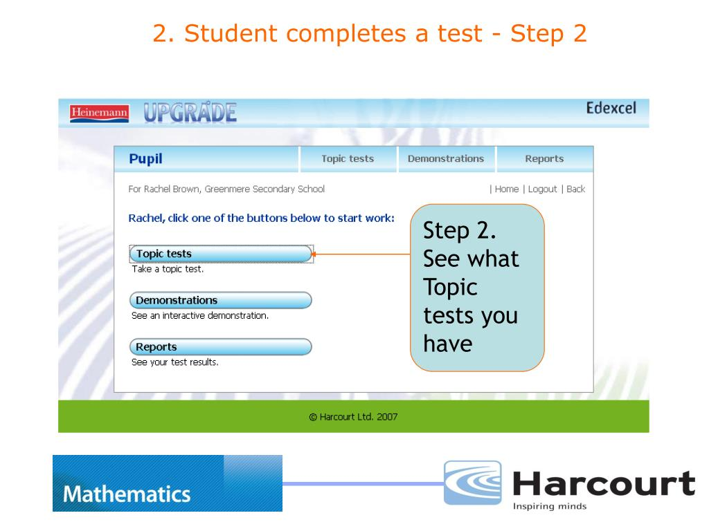 Step 2. See what Topic tests you have