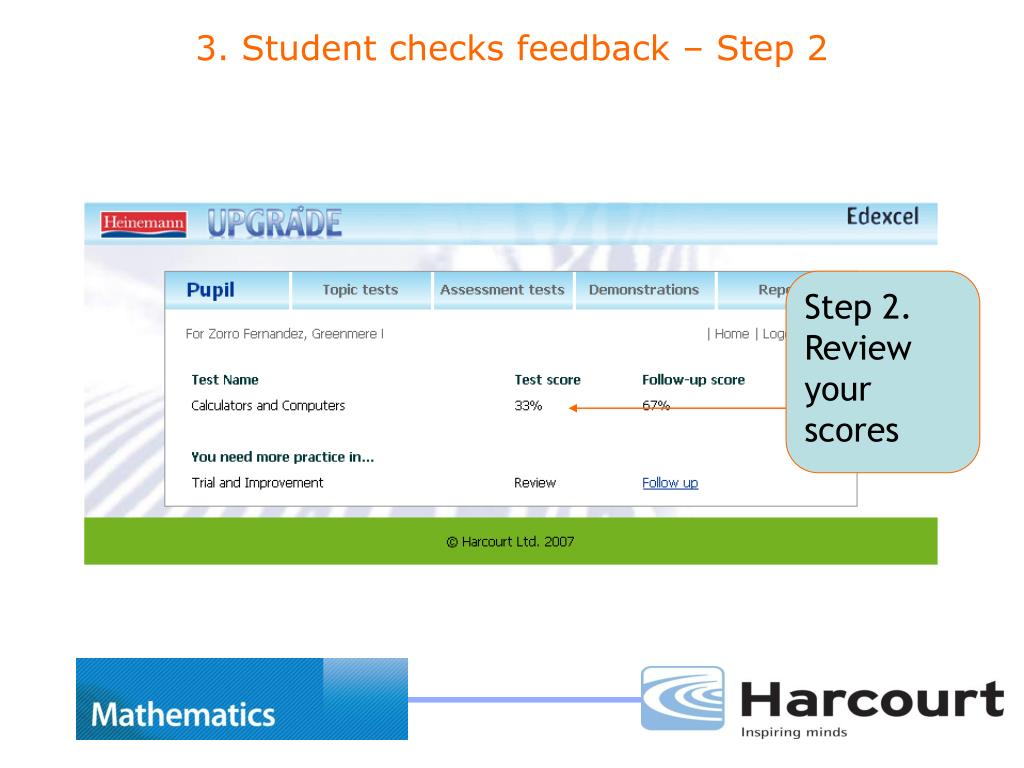Step 2. Review your scores