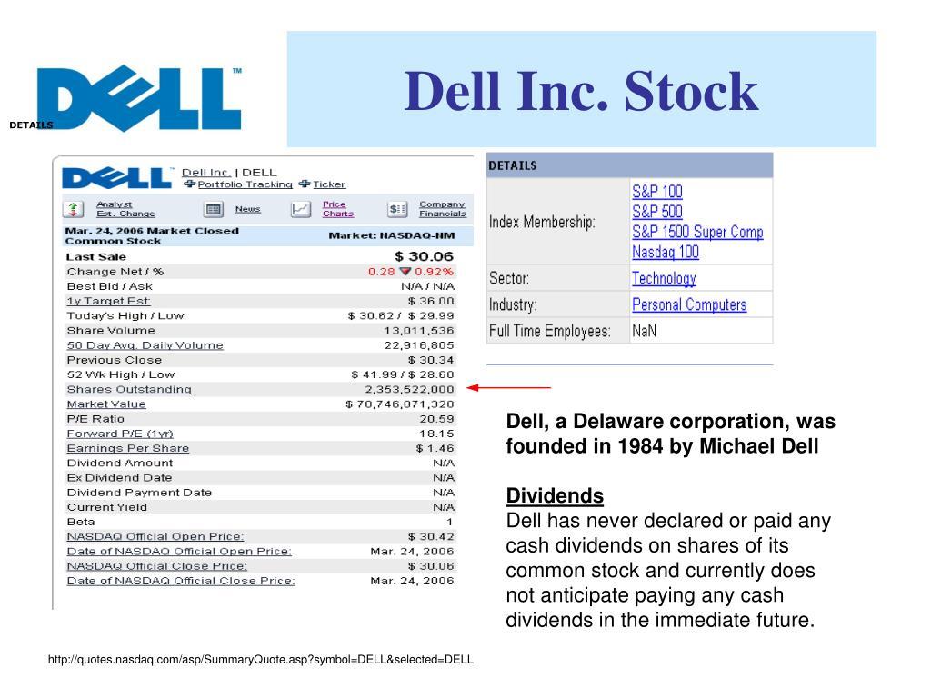 Dell Inc. Stock