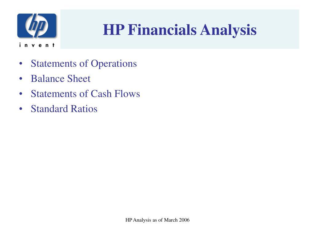 HP Financials Analysis
