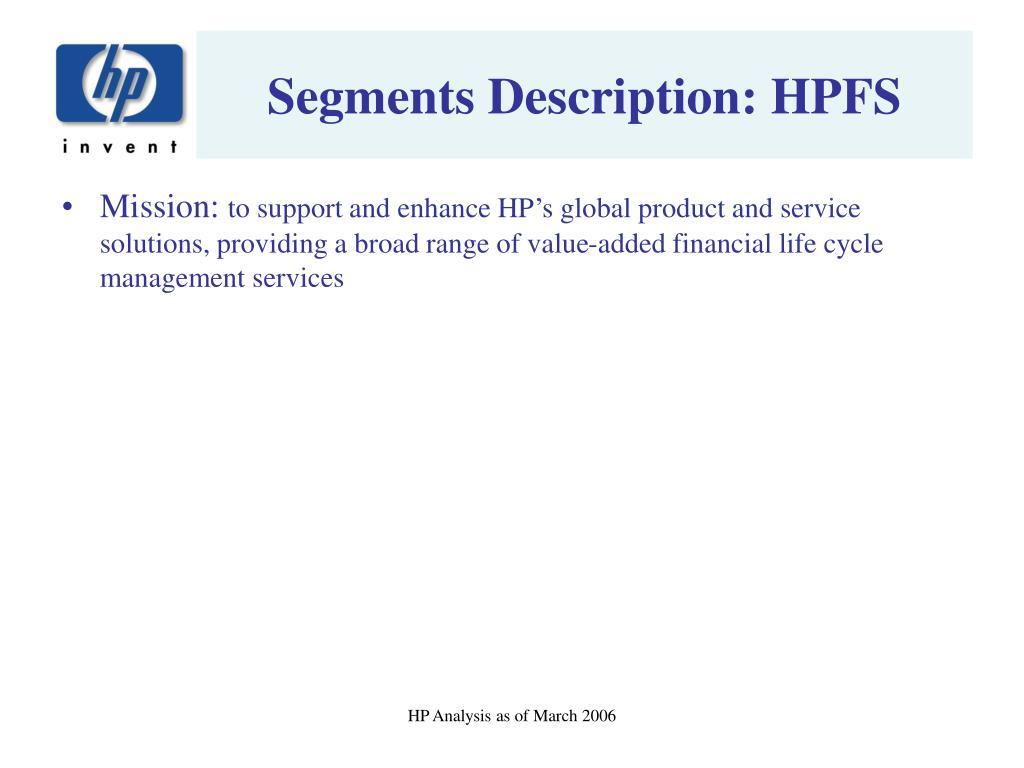 Segments Description: HPFS