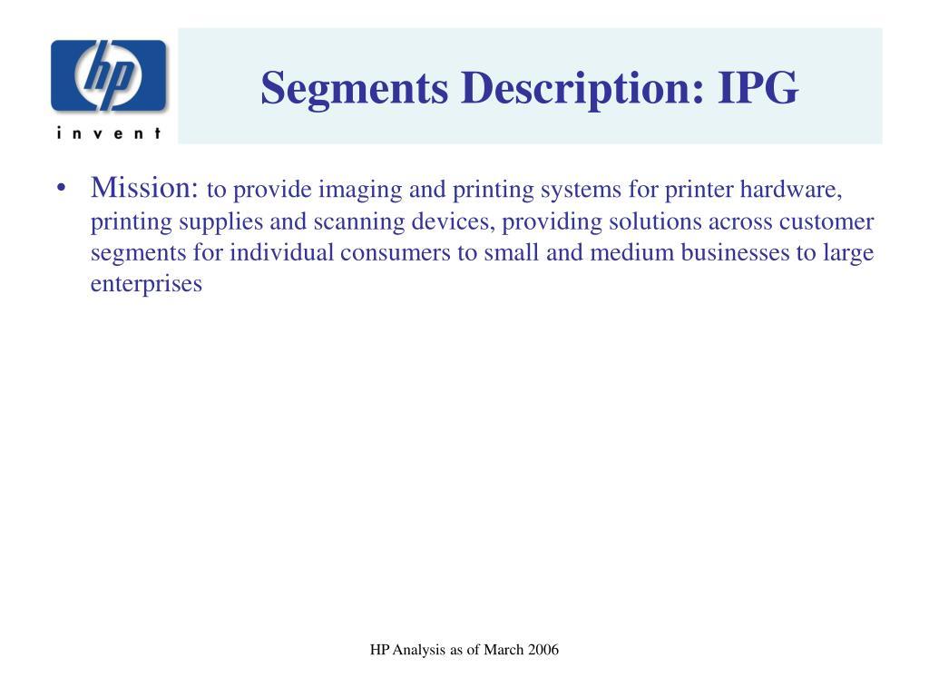 Segments Description: IPG