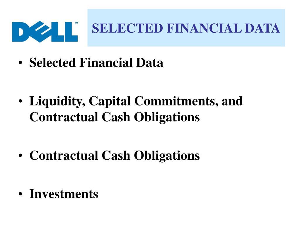 SELECTED FINANCIAL DATA