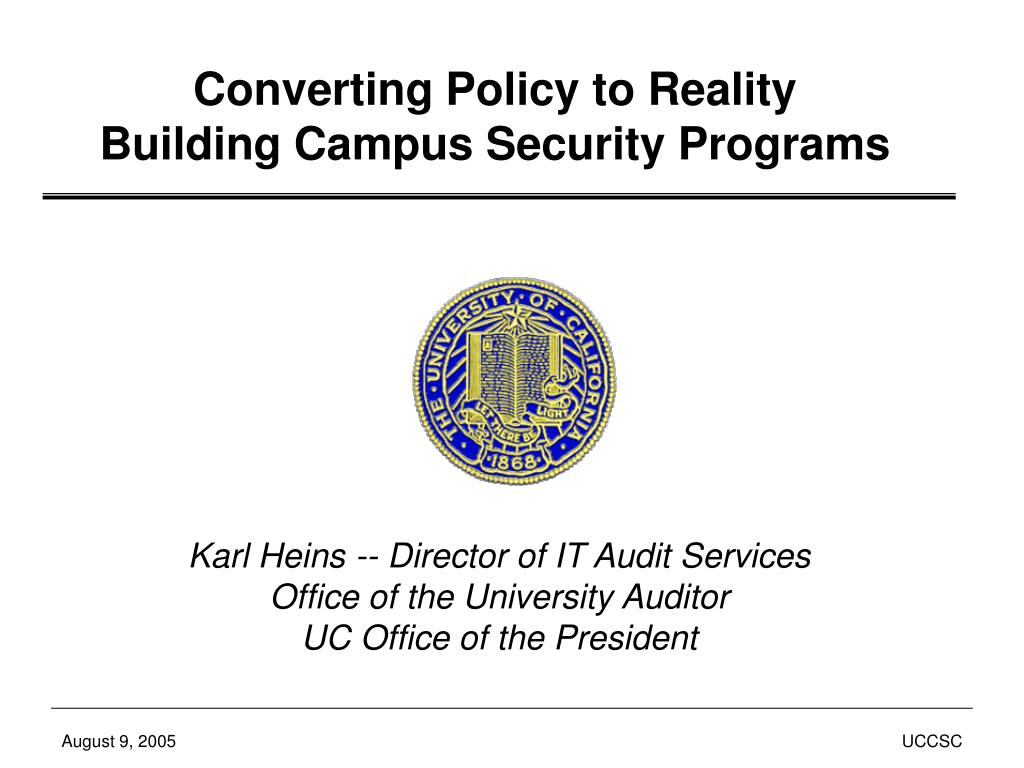 Converting Policy to Reality