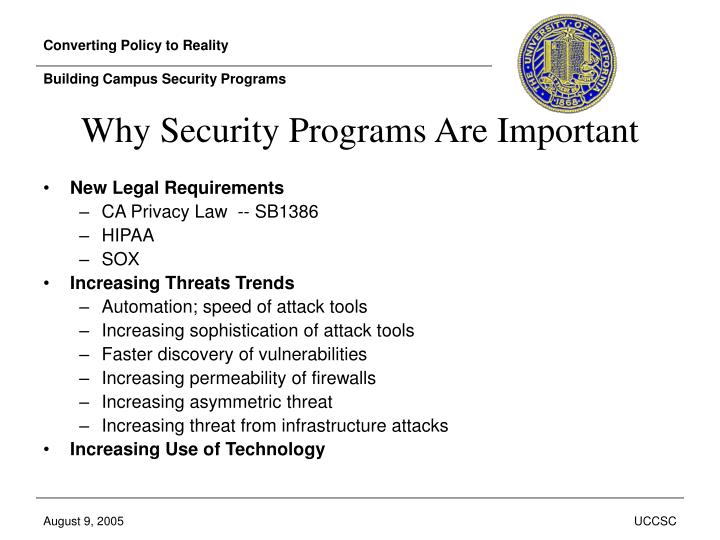 Converting policy to reality building campus security programs2