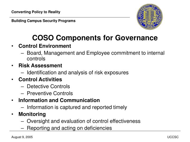 Converting policy to reality building campus security programs3