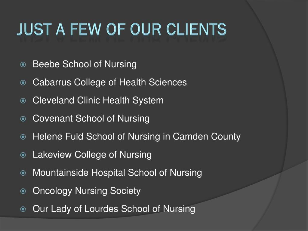 Just a Few of Our Clients