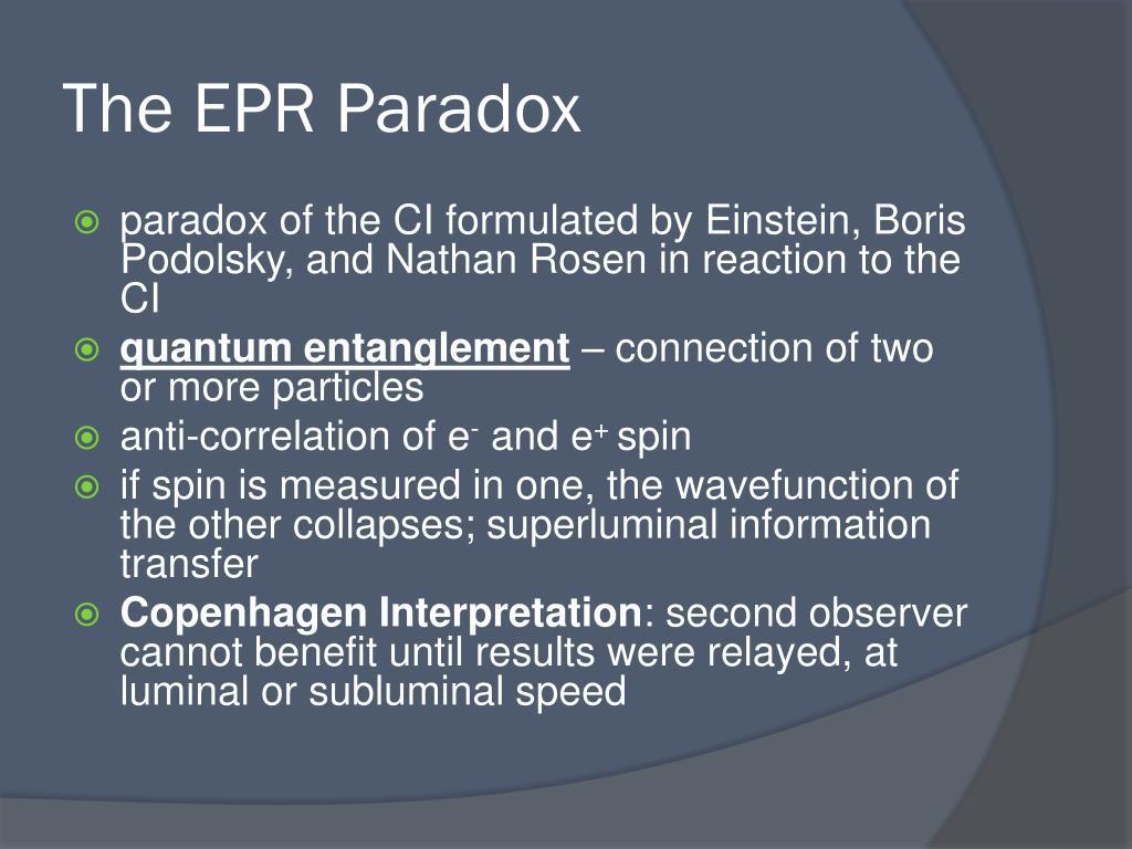 The EPR Paradox