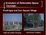 evolution of defensible space concept