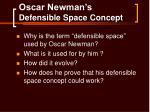 oscar newman s defensible space concept
