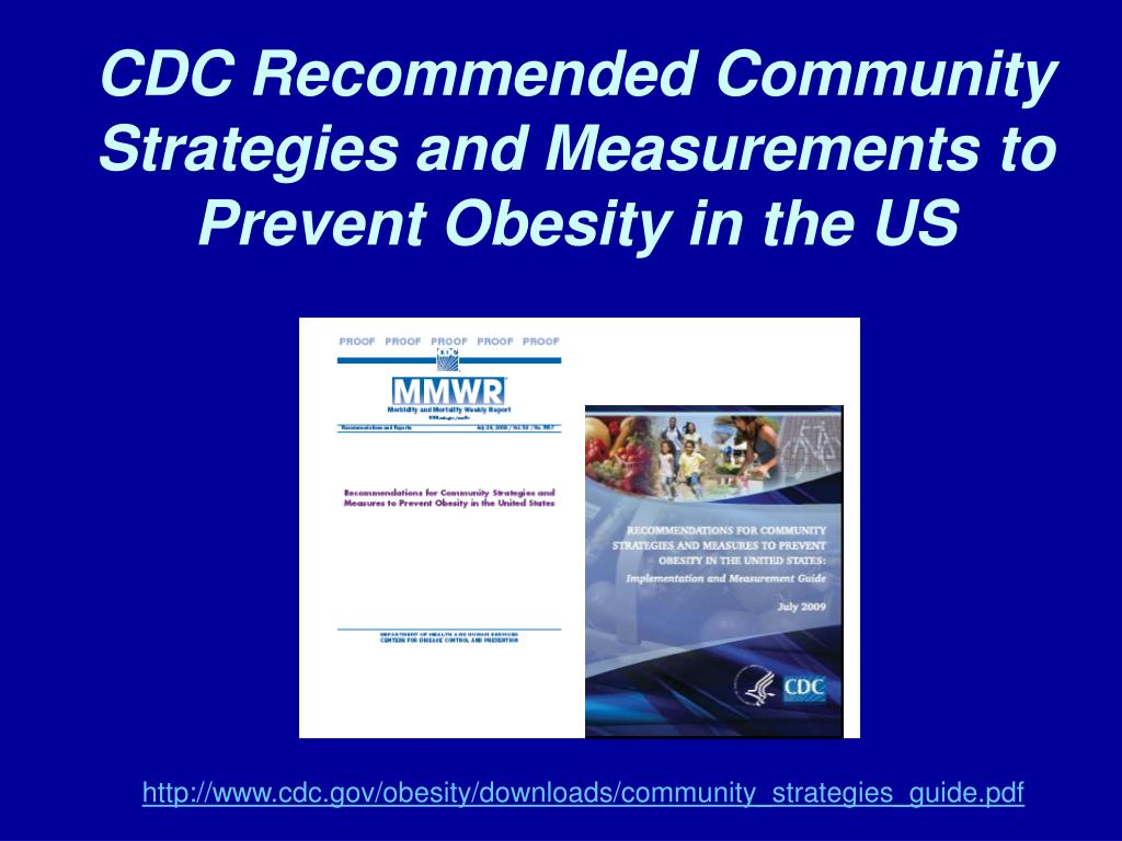CDC Recommended Community Strategies and Measurements to Prevent Obesity in the US