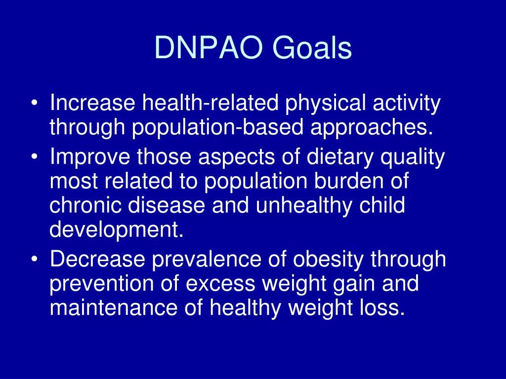 DNPAO Goals