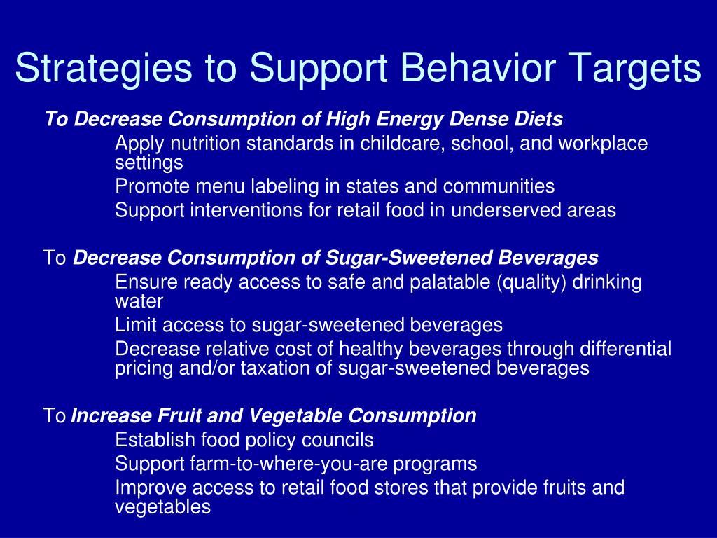 Strategies to Support Behavior Targets