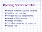 operating systems activities