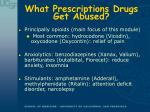 what prescriptions drugs get abused