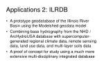 applications 2 ilrdb