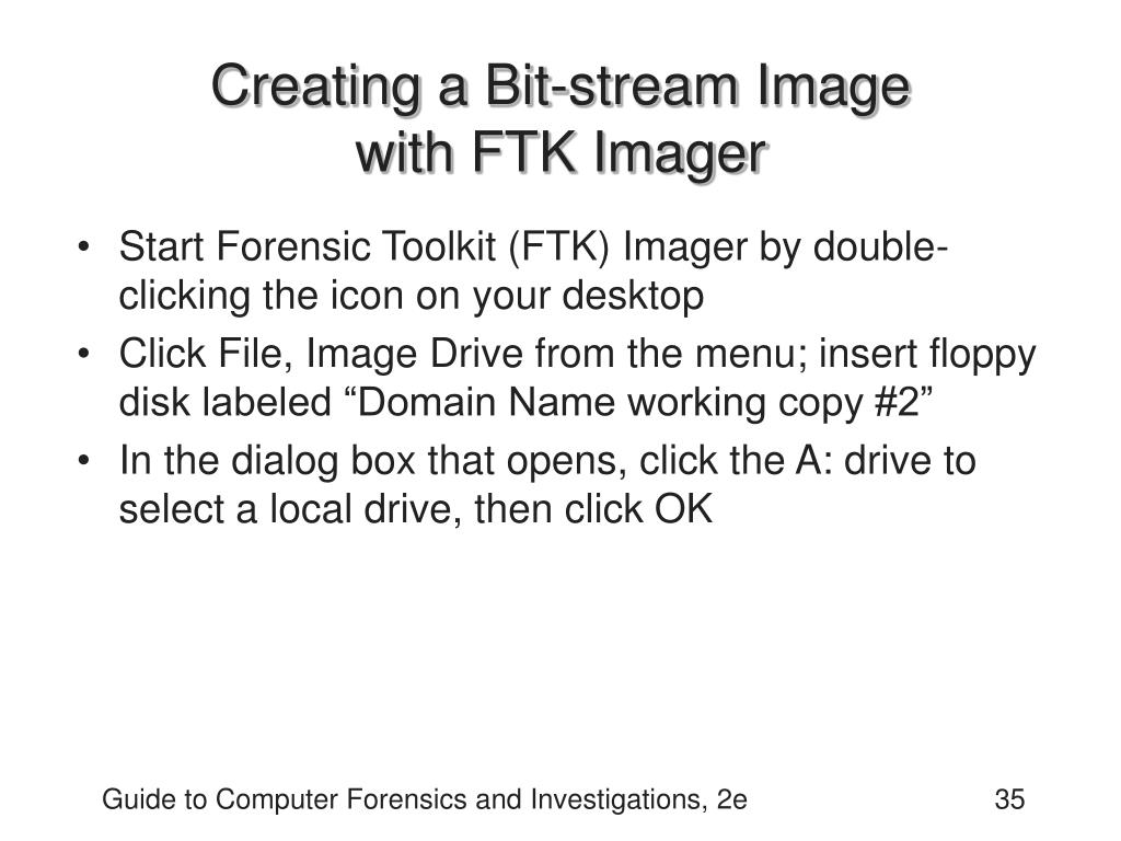 Creating a Bit-stream Image