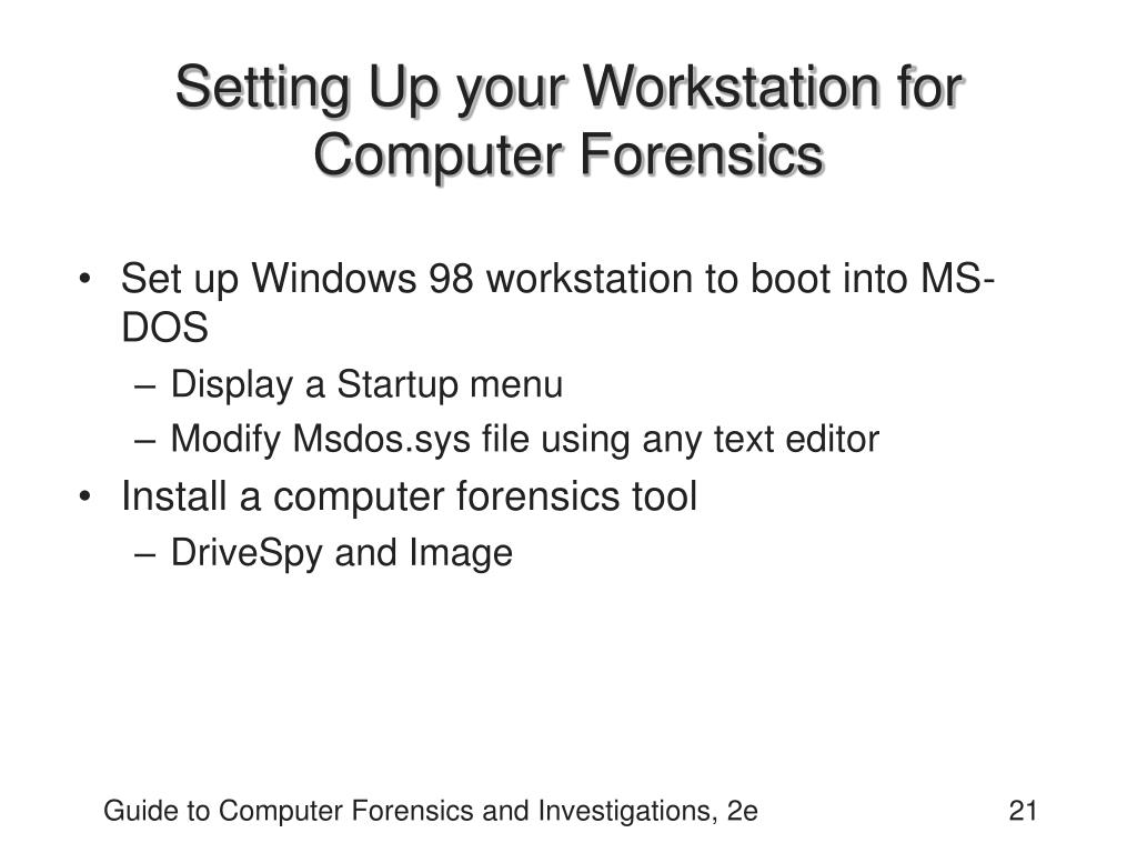 Setting Up your Workstation for Computer Forensics