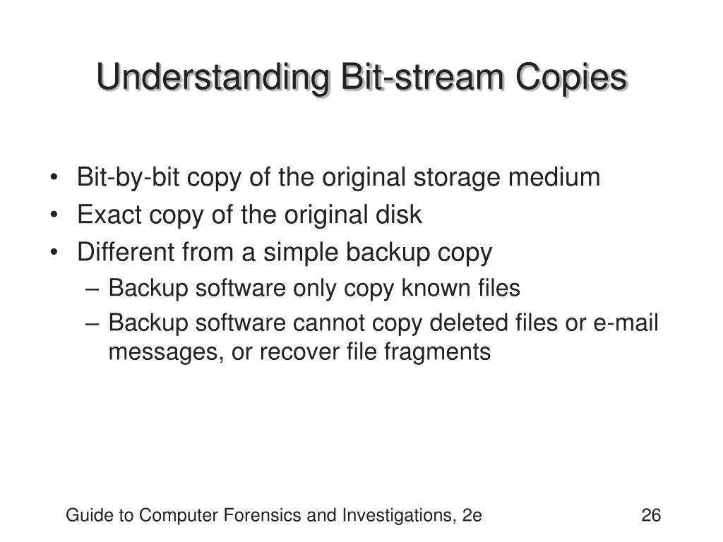 Understanding Bit-stream Copies