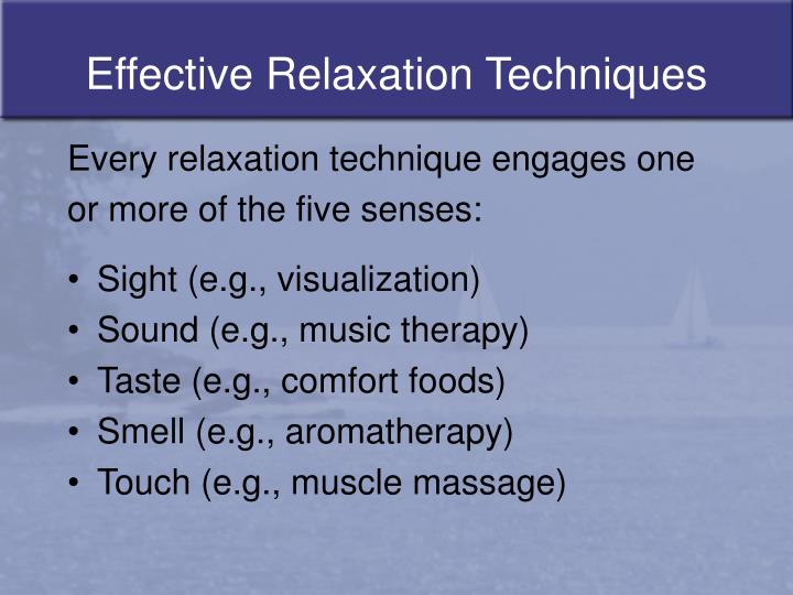 Effective relaxation techniques3