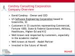 condrey consulting corporation company overview
