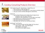 condrey consulting products overview