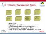 k 12 identity management reality