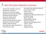 more file system education customers
