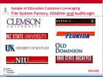 sample of education customers leveraging