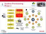 student provisioning phase 2