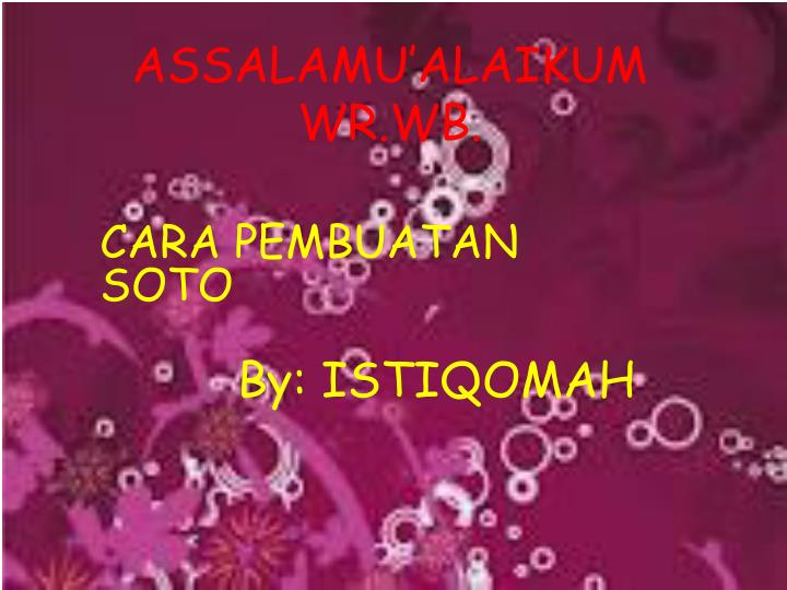 assalamu alaikum wr wb n.