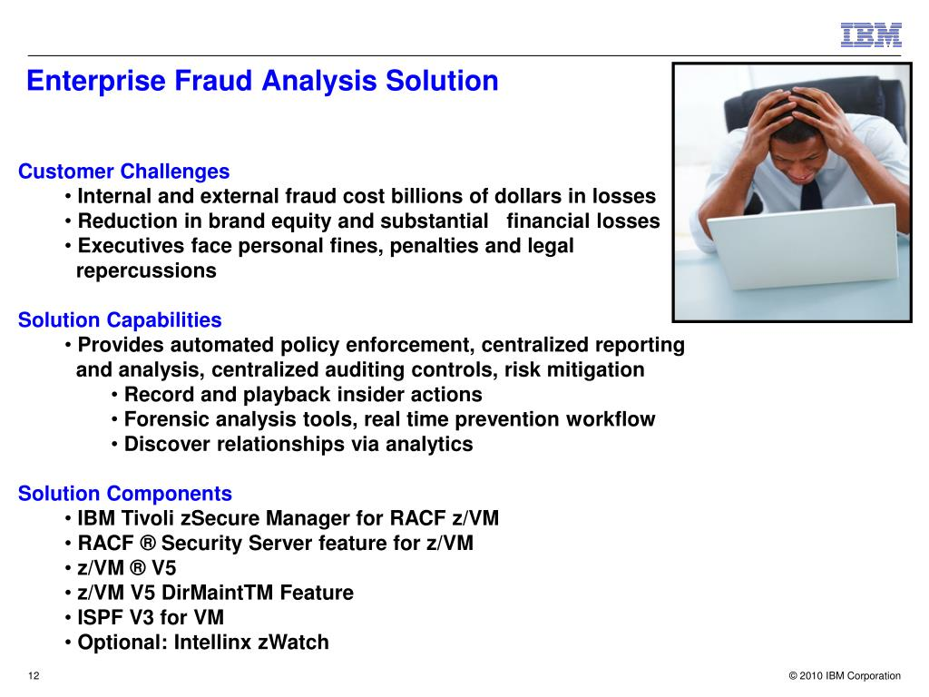 Enterprise Fraud Analysis Solution