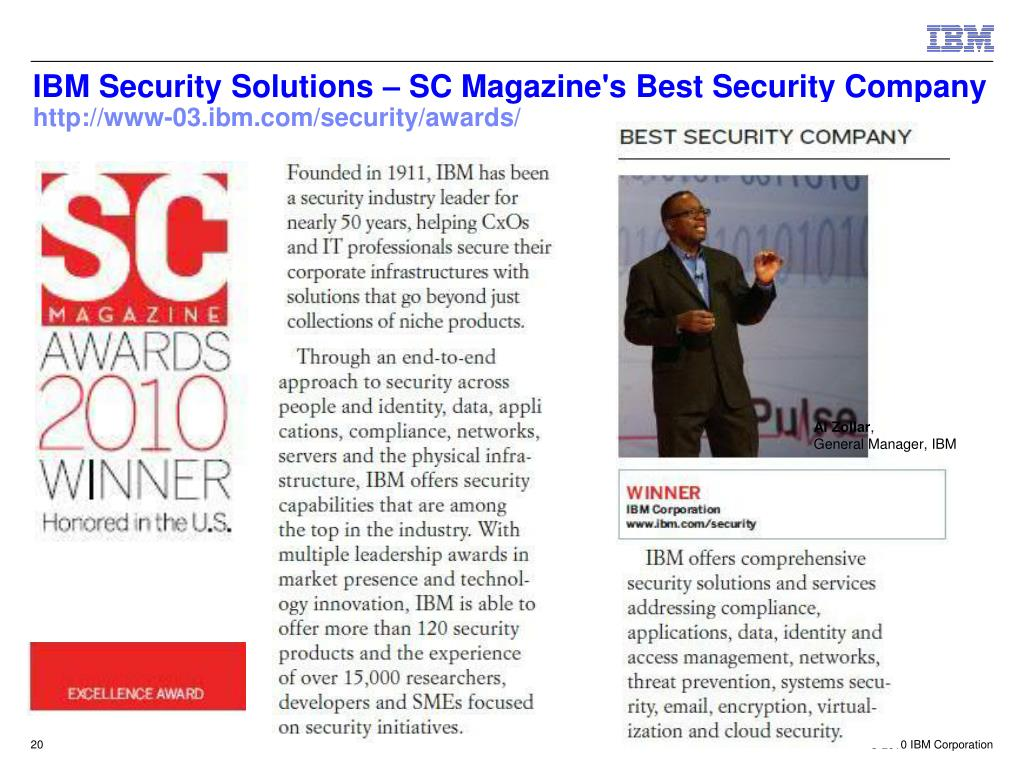 IBM Security Solutions – SC Magazine's Best Security Company
