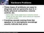 hardware problems