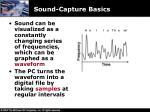 sound capture basics