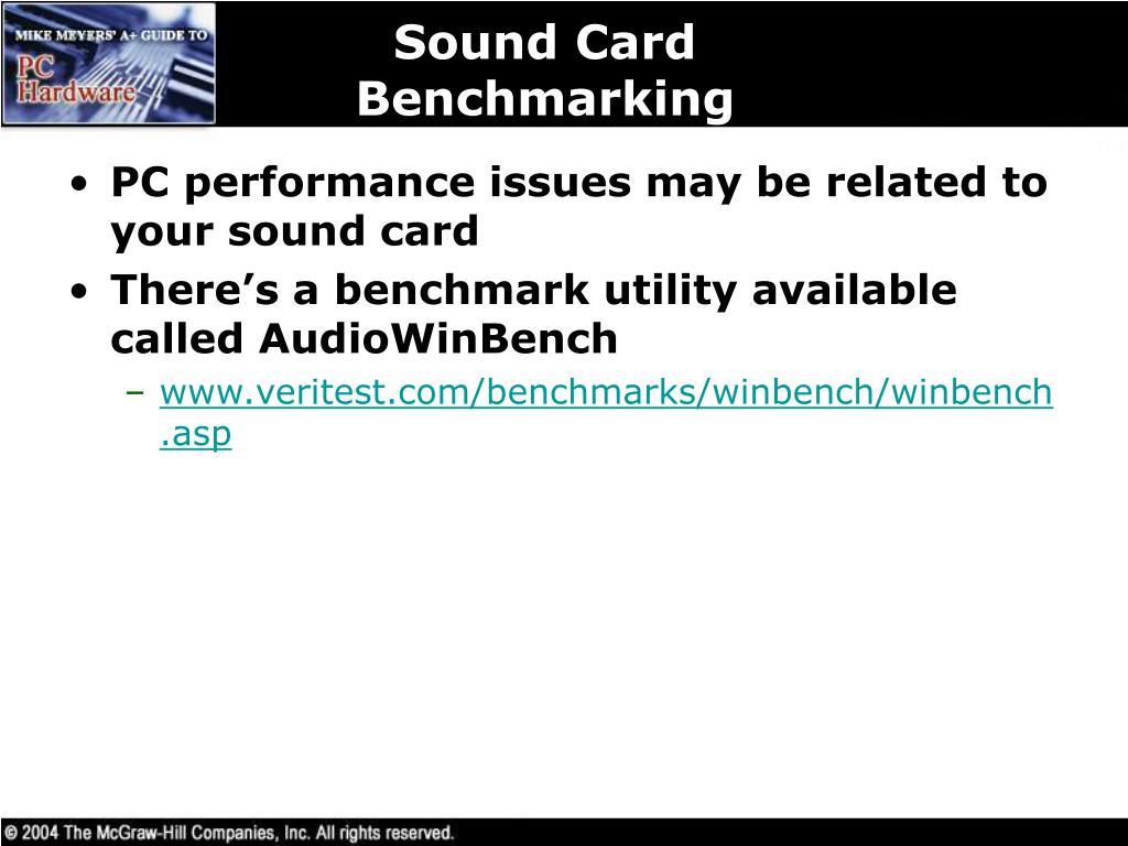 Sound Card Benchmarking