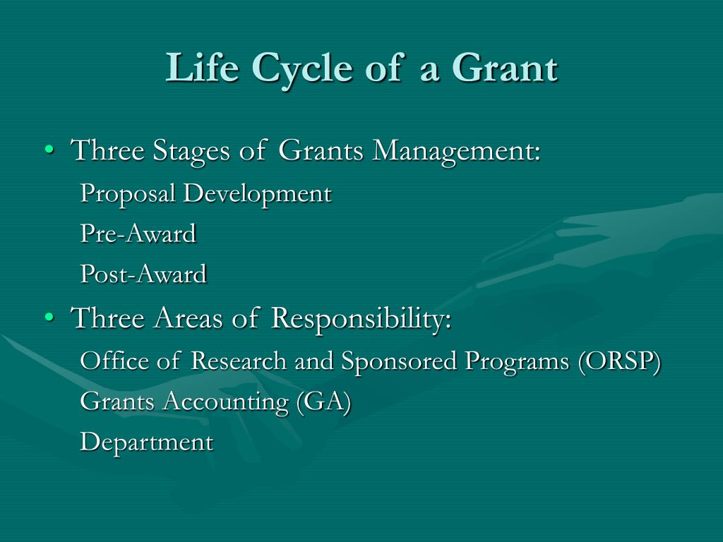 Life Cycle of a Grant
