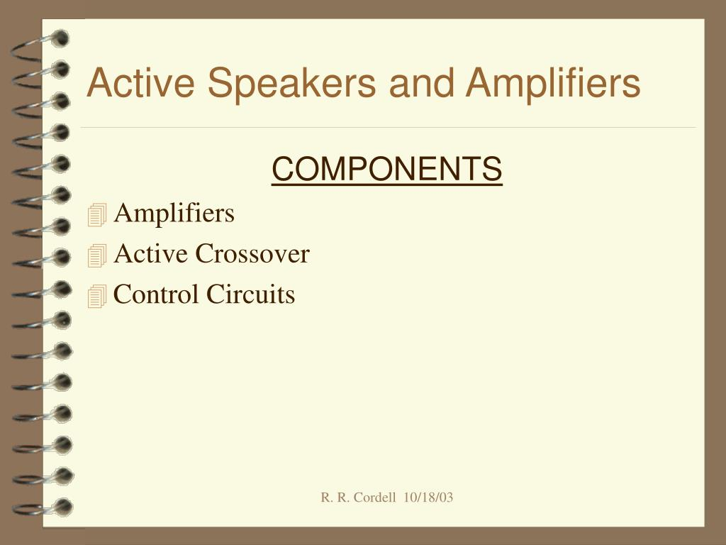 active speakers and amplifiers l.