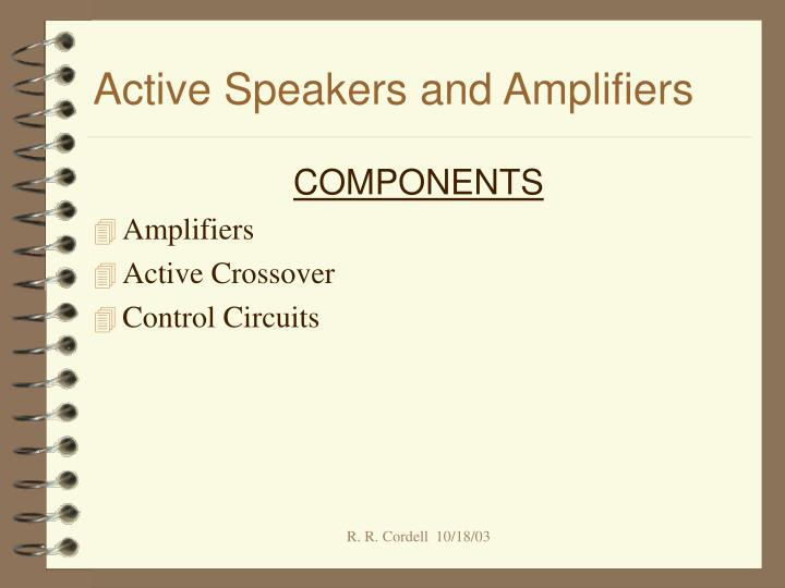 active speakers and amplifiers n.