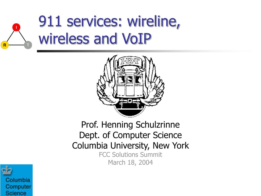 911 services wireline wireless and voip l.