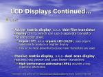 lcd displays continued