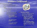 printers continued16
