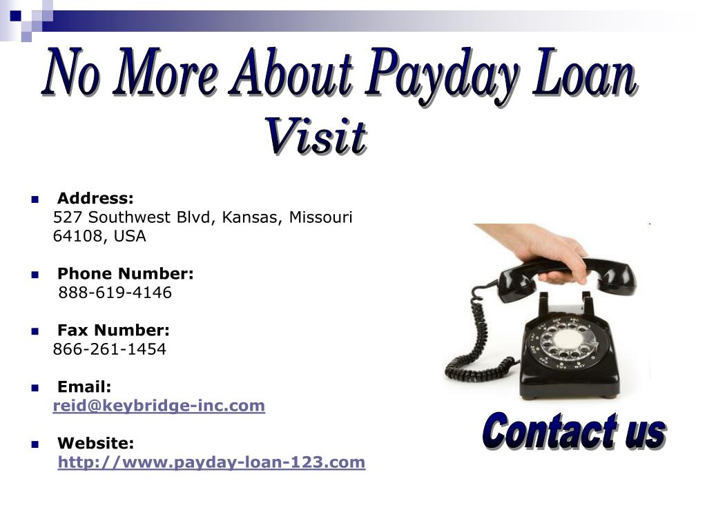 No More About Payday Loan