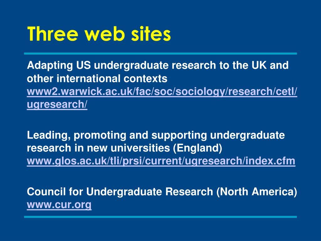 Three web sites