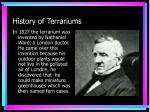 history of terrariums