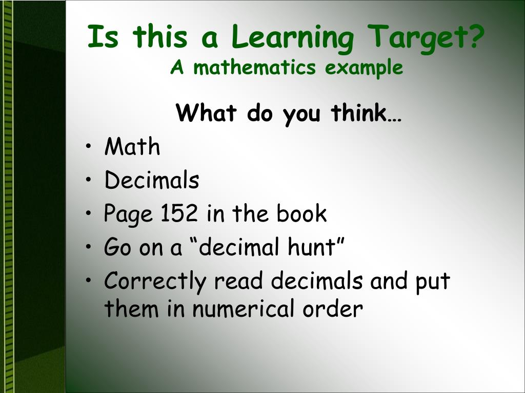 Is this a Learning Target?