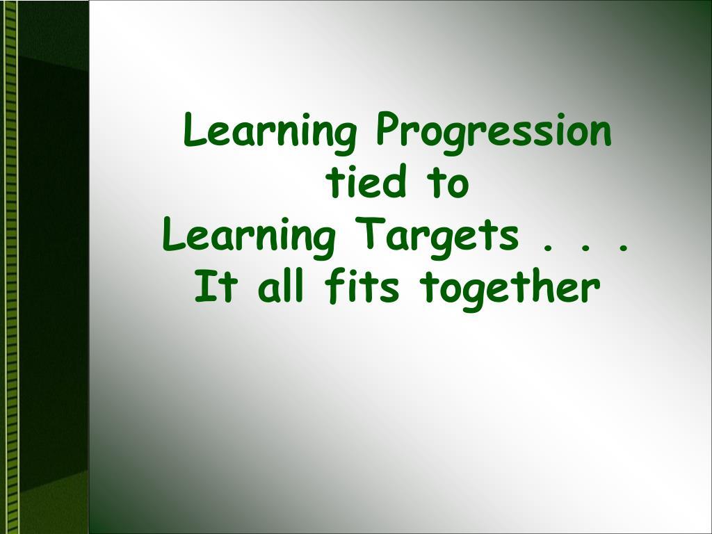 Learning Progression
