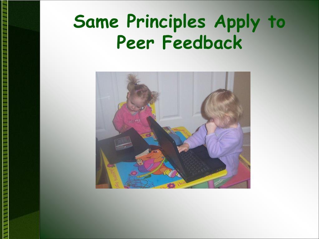 Same Principles Apply to