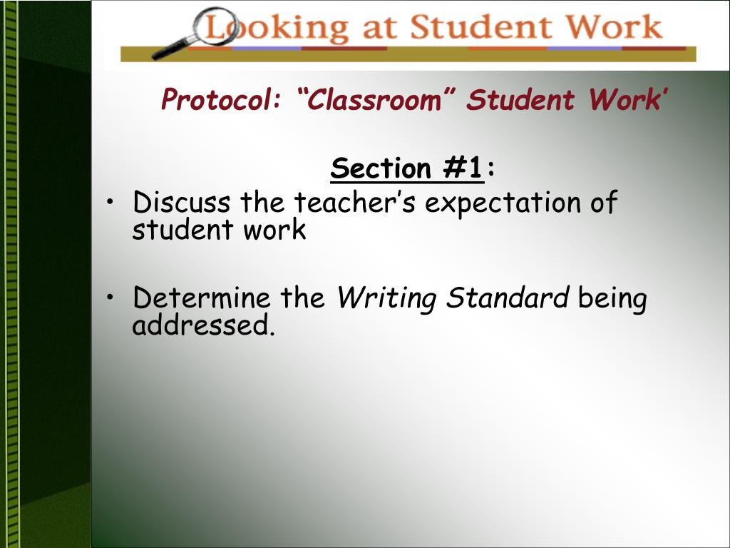 "Protocol: ""Classroom"" Student Work'"