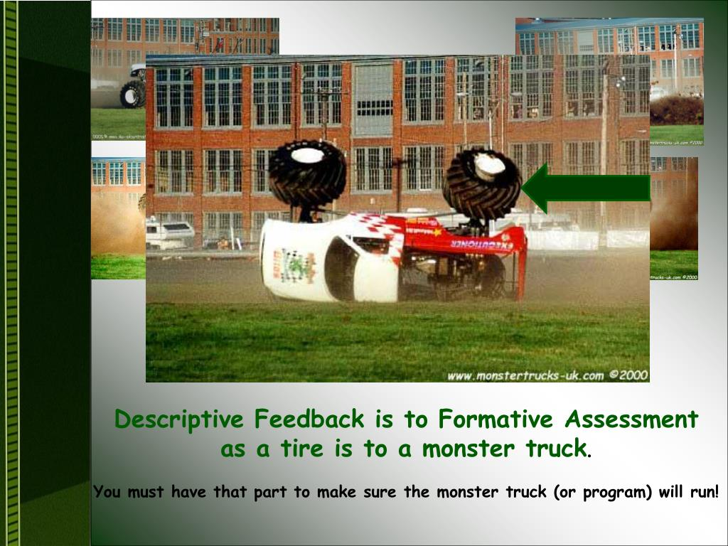Descriptive Feedback is to Formative Assessment
